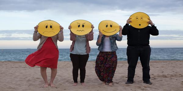 las emociones básicas: miedo, rabia, tristeza y alegría